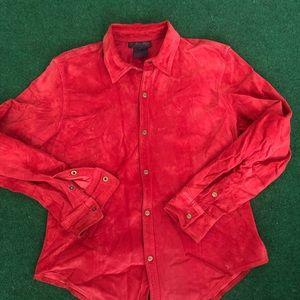 Ralph by Ralph Lauren Leather Button Up